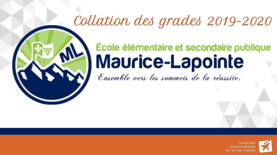 Collation des grades Maurice-lapointe